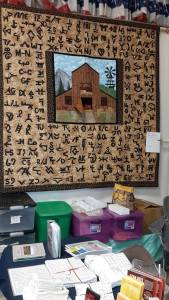 2015 Fair Booth and quilt for scholarships