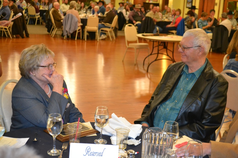 2016 Ranch Woman of the Year-Susan Bousman and Joel at banquet, courtesy Joy Ufford at Sublette Examiner-Pinedale Roundup