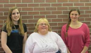 2016 Pinedale High School Scholarship recipients--Emmilee Eaton, Jonita Sommers and Lauren Staten