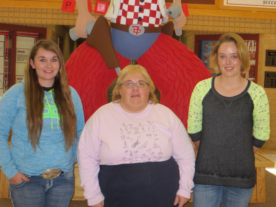 2016 Big Piney High School recipients of scholarship--Darby Woffinden, Jonita Sommers, Liz McGinnis